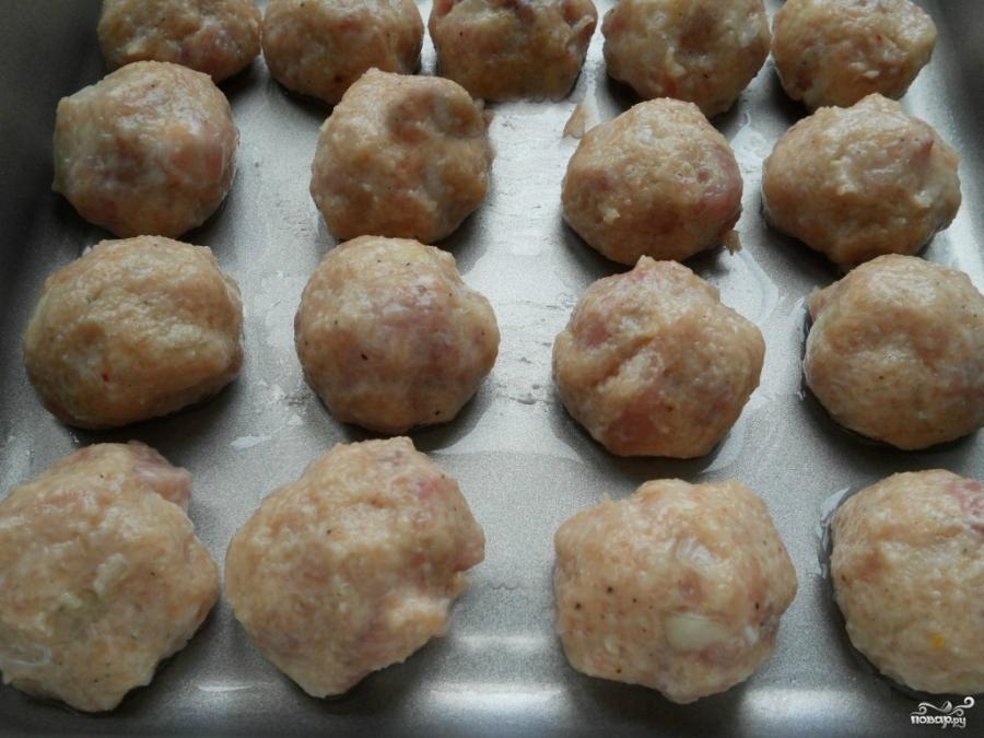 Тефтели под сливочным соусом - фото шаг 5