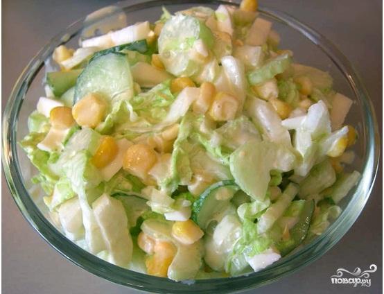 Салат со стеблями сельдерея