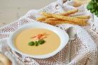 Сырный крем-суп с креветками