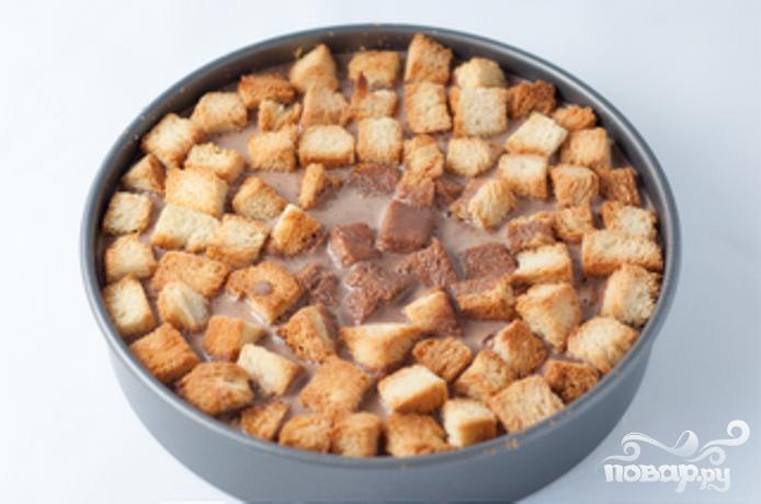 Хлебный пудинг с шоколадом - фото шаг 2