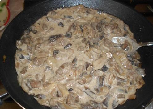 Жульен из говядины с грибами - фото шаг 3