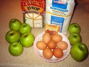 """Рецепт Пирог с яблоками """"Шарлотка"""""""