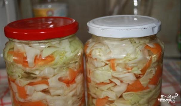 Рецепт маринованной капусты в банки на зиму