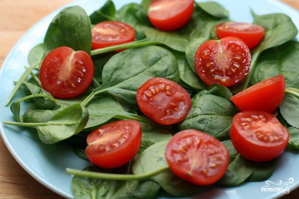 Салат со шпинатом и помидорами черри - фото шаг 3