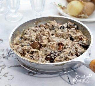Рецепт Опята со сметаной
