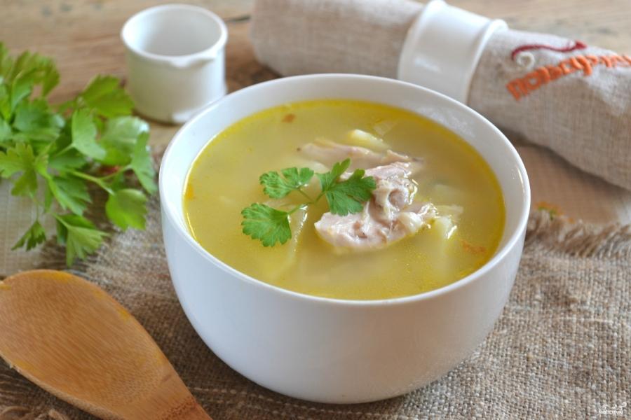 Куриный суп с вермишелью - фото шаг 7