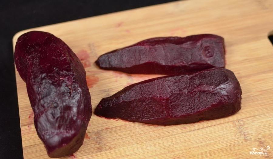 Рецепт Салат из свеклы с чесноком и майонезом