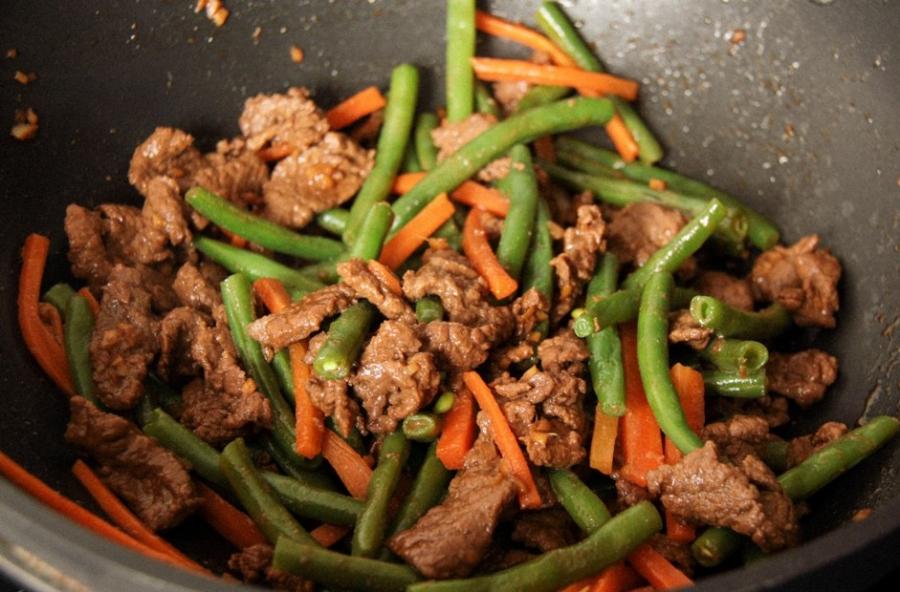 Салат с мясом и стручковой фасолью рецепт