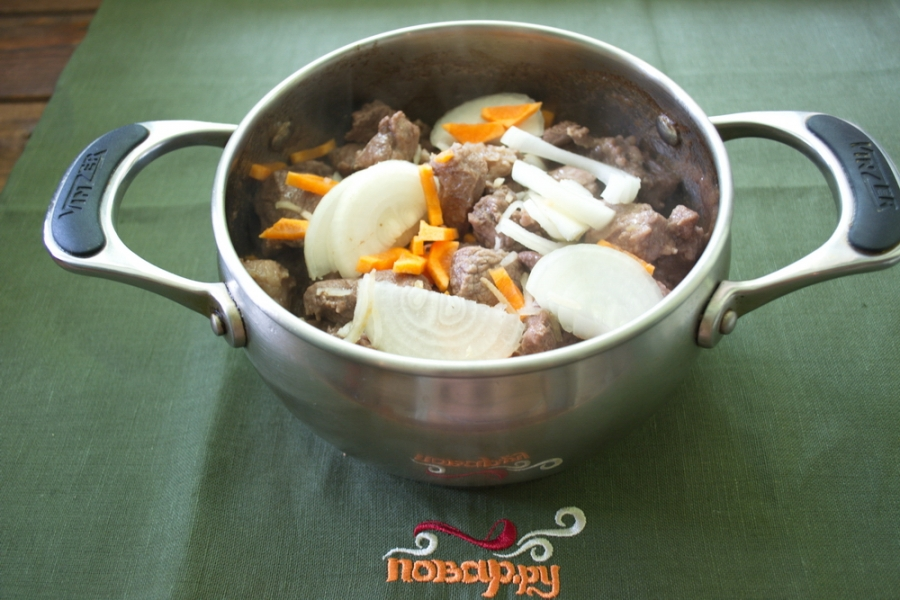 Мясо, тушеное с овощами - фото шаг 3