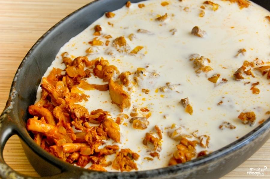 Лисички сметанном соусе рецепт с фото