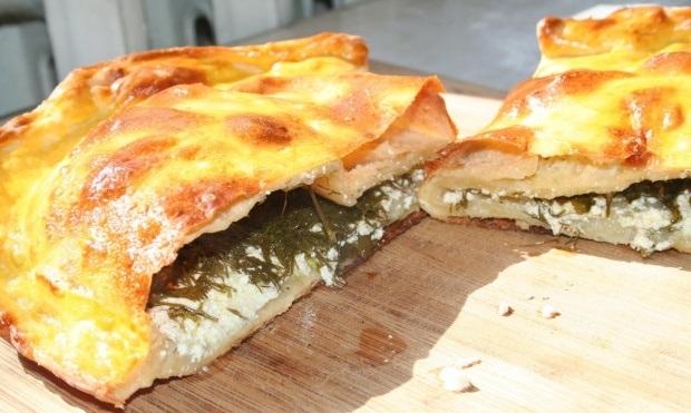 Пирог с творогом и зеленью - фото шаг 6
