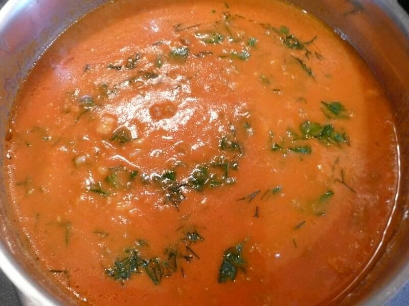 Томатный суп с фаршем  - фото шаг 6