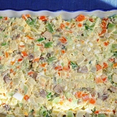 Сытный новогодний салат - фото шаг 24