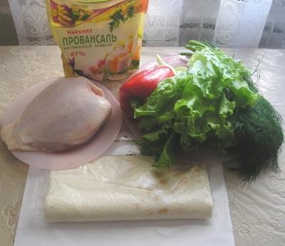 Рецепт Шаурма в лаваше с курицей