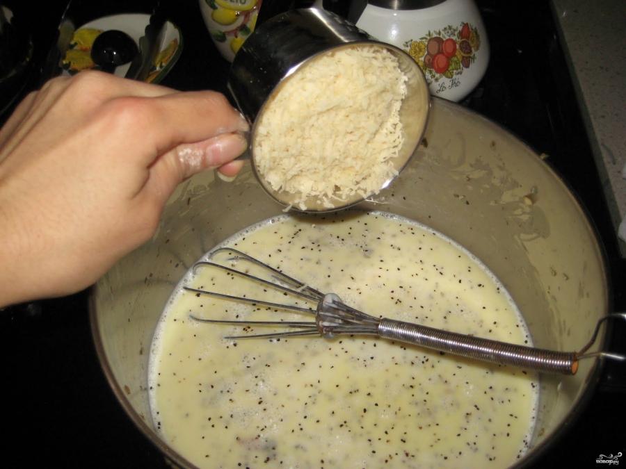 Брокколи с грибами в сливочном соусе - фото шаг 7
