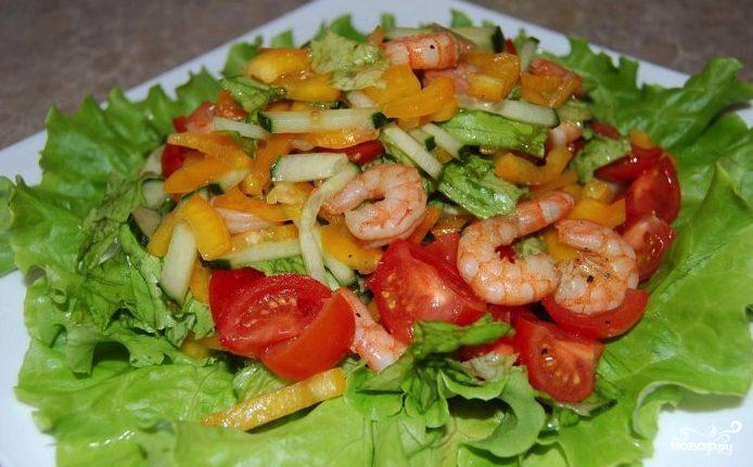 Простой вкусный салат с креветками рецепт с