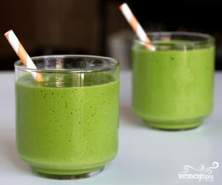 Зеленый витаминный напиток Тропик - фото шаг 4