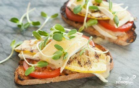 Рецепт Бутерброды с кабачками
