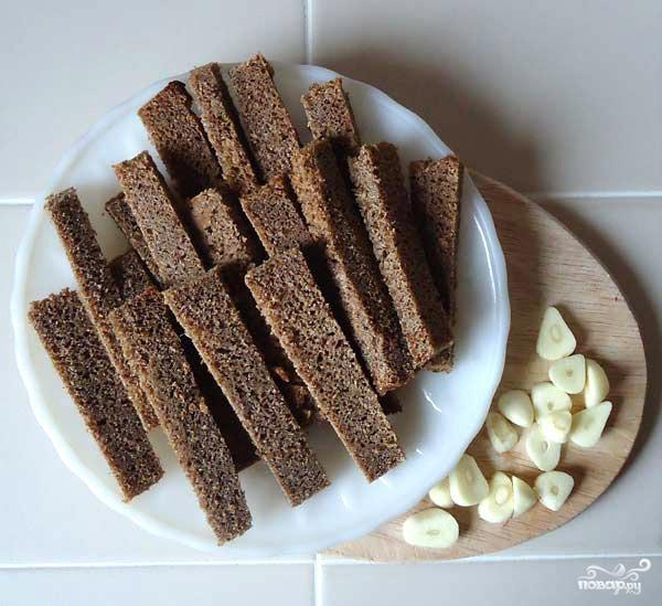Рецепт Гренки бородинские