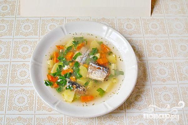 Суп из рыбных консервов - Все рецепты России
