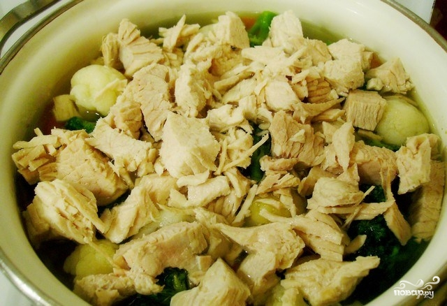 Суп из индейки с брокколи - фото шаг 4
