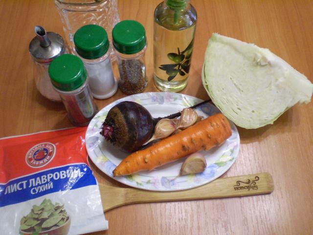Рецепт Быстрая маринованная капуста со свеклой