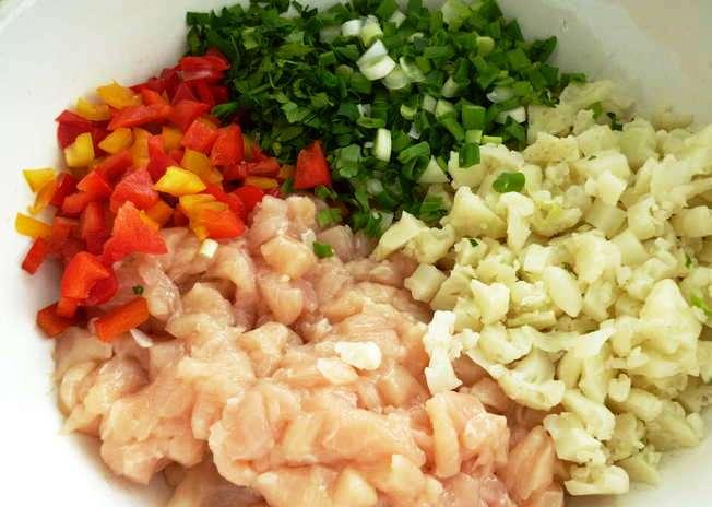 Рецепт Куриные котлеты с цветной капустой