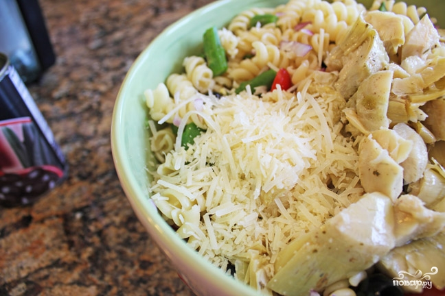 Макаронный салат с овощами - фото шаг 5