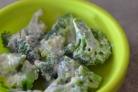 Брокколи под сливочным соусом