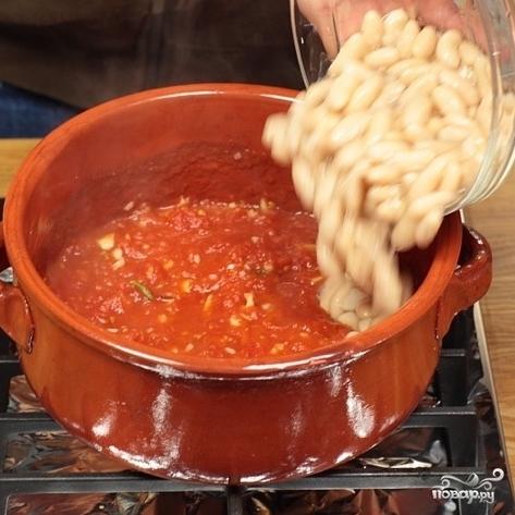 Фасоль тушеная с помидорами - фото шаг 3