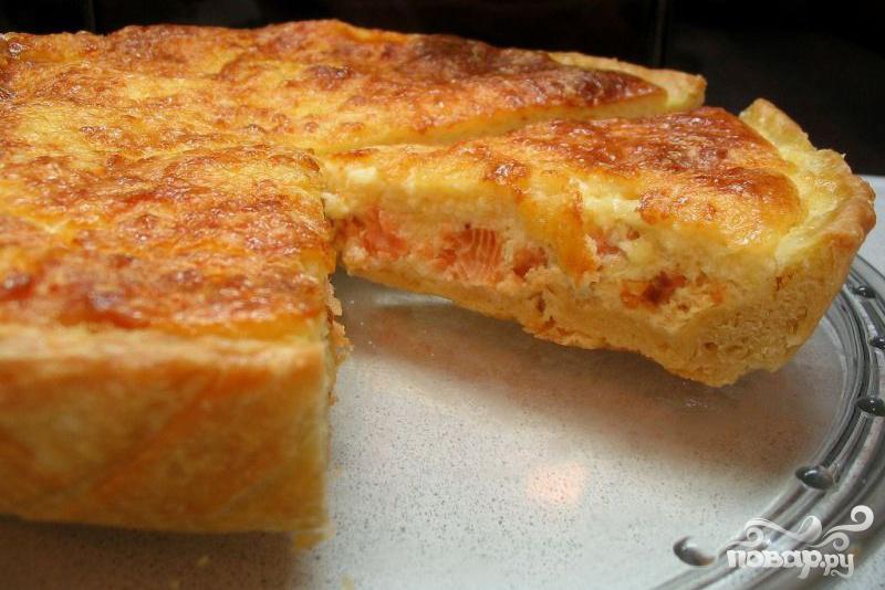 Рецепт Французский пирог Киш с лососем