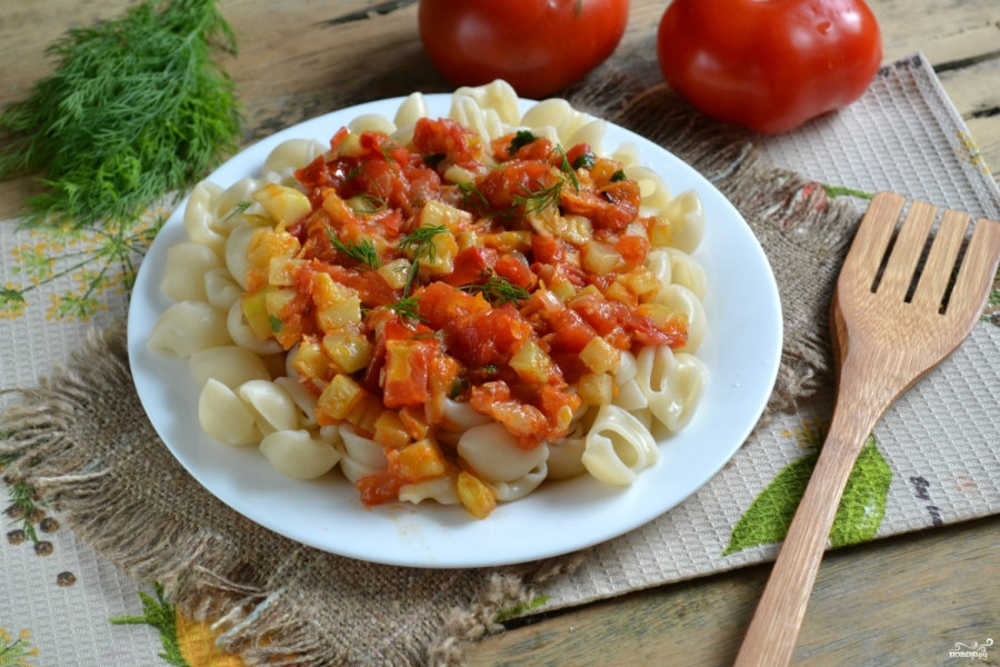 Вегетарианская паста - фото шаг 9