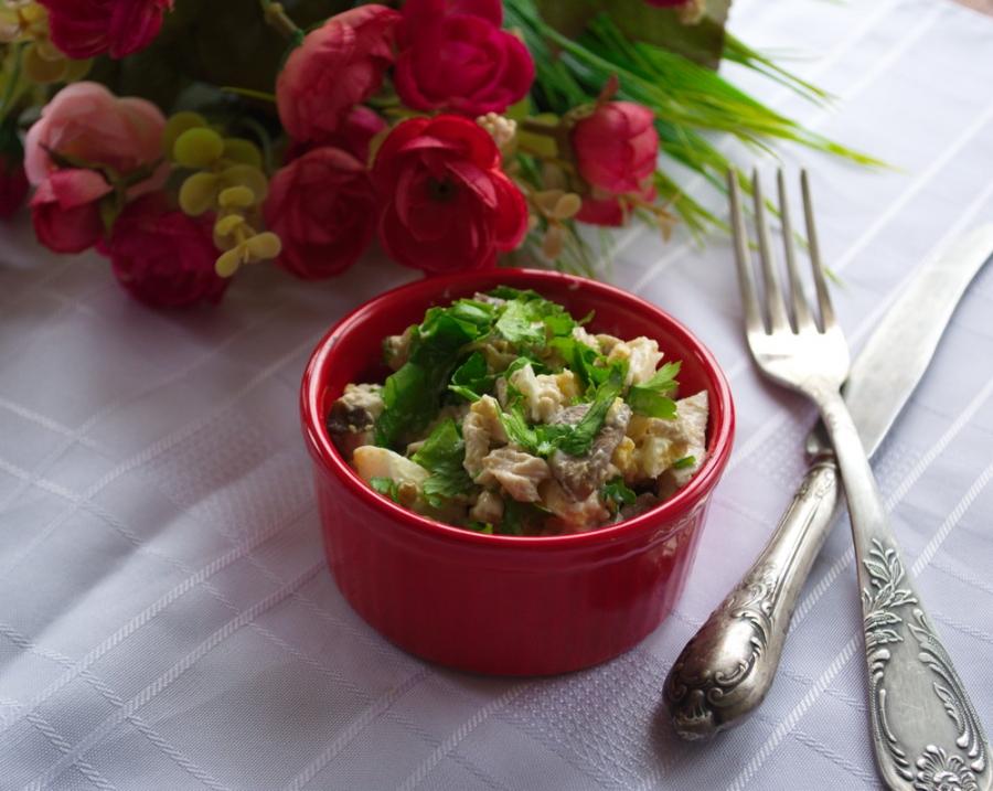 салат оригинальный рецепт с курицей