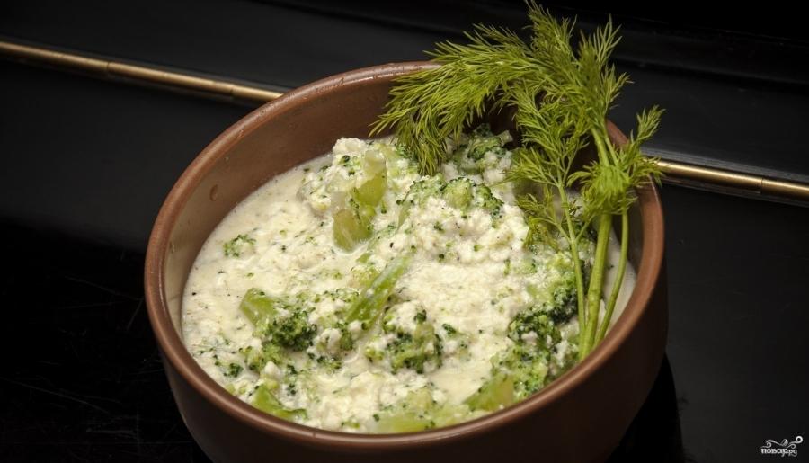 Брокколи с сыром в горшочке - фото шаг 4