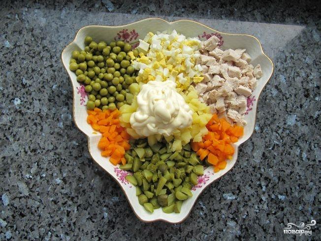 рецепт оливье с подсчетом калорий