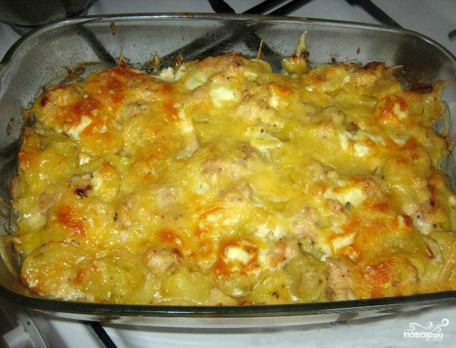 Картофельная запеканка с грудкой - фото шаг 4