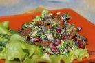 Салат из шампиньонов и фасоли