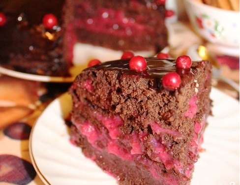 Брусничный торт - фото шаг 4
