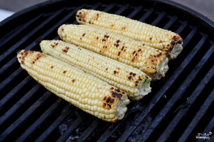 Кукуруза на гриле - фото шаг 2