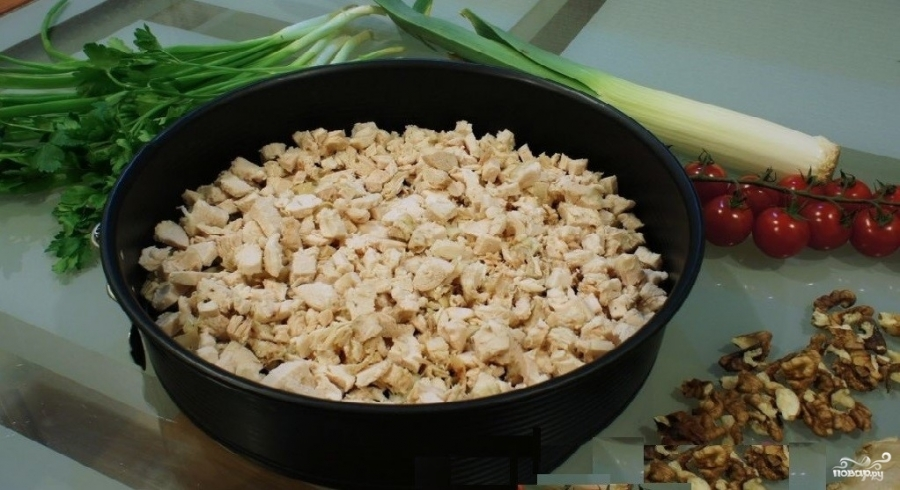 Куриный салат с грибами и сыром - фото шаг 1