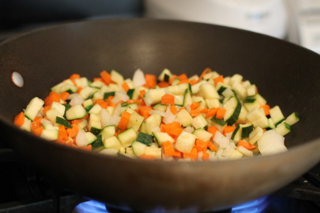 Рецепт Омлет с рисом по-корейски