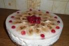 Торт без выпечки с желатином и фруктами