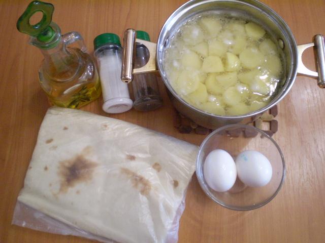 Рецепт Лаваш с пюре