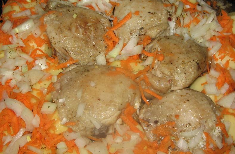 рецепт курицы в духовке с картошкой фото рецепт пошаговый