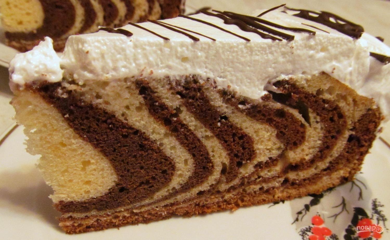 Зебра пошаговый рецепт кекс с
