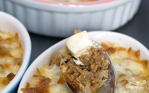 Фарш с сыром в духовке
