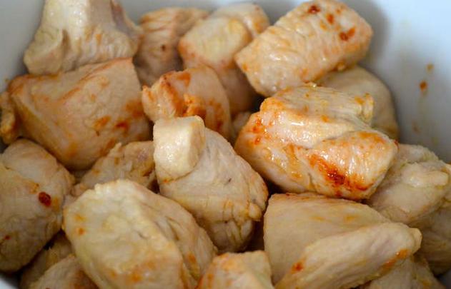 Рецепт Индейка кусочками на сковороде