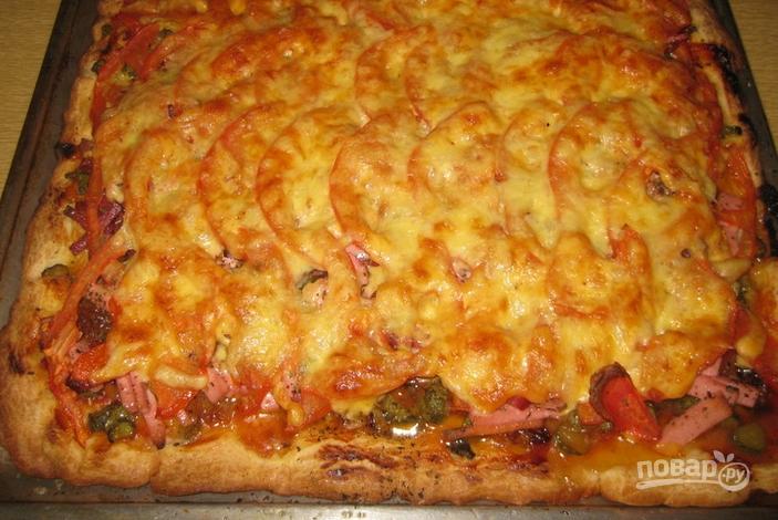 пицца рецепт сколько в духовке
