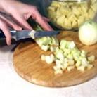 Рецепт Картофельный суп-пюре с сельдереем и куриными клецками