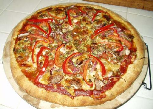 Овощная пицца с сыром Моцарелла - фото шаг 18